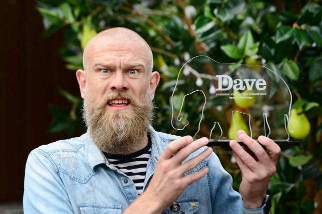 Comedian Olaf Falafel wins the Dave Joke of the Fringe 2019 award. To see all the top jokes, please visit dave.uktv.co.uk. Date: 19.08.19. UKTV Dave/Martina Salvi. Photographed in Edinburgh