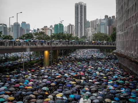 Sea of umbrellas takes over streets of Hong Kong in latest protest