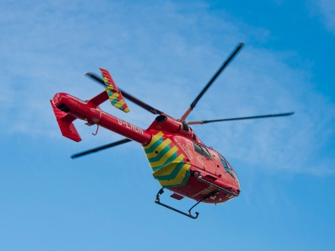 Boy, one, airlifted to hospital after he was found unconscious in swimming pool