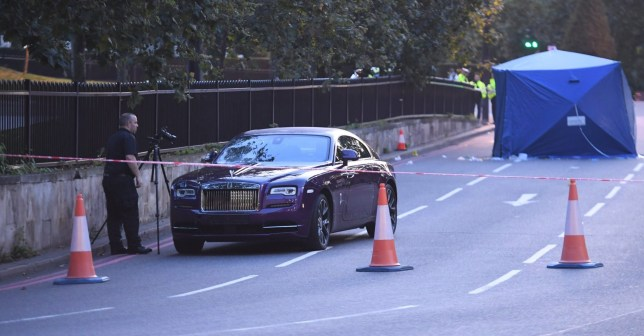 Fatal accident at London's Hyde Park Corner today Picture Jeremy Selwyn Evening Standard
