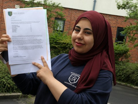 Top GCSE marks for Syrian refugee who came to UK not able to speak English