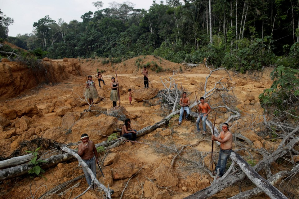 REFILE - REMOVING EXTRA CHARACTERS Indigenous people from the Mura tribe shows a deforested area in unmarked indigenous lands inside the Amazon rainforest near Humaita, Amazonas State, Brazil August 20, 2019. Picture taken August 20, 2019. REUTERS/Ueslei Marcelino