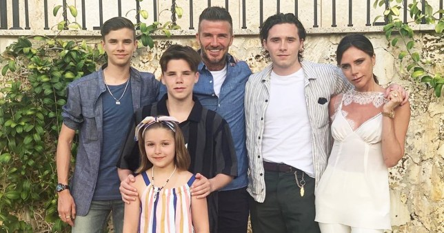 How old are all of David and Victoria Beckham's kids as family is pictured on holiday together in Italy