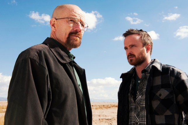 Bryan Cranston and Aaron Paul in Breaking Bad