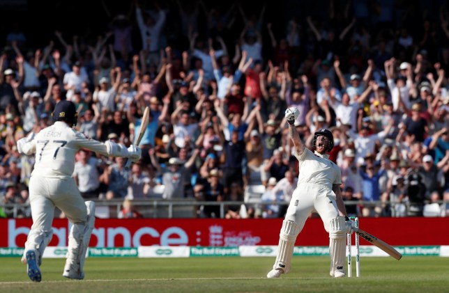 Cricket - Ashes 2019 - Third Test - England v Australia - Headingley, Leeds, Britain - August 25, 2019 England's Ben Stokes and Jack Leech celebrate as they win the test Action Images via Reuters/Andrew Boyers