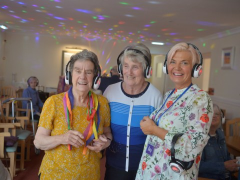 OAPs with dementia find new lease of life with silent discos at care home