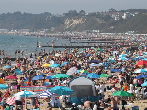 Brits flock to beach in thousands for record-breaking bank holiday