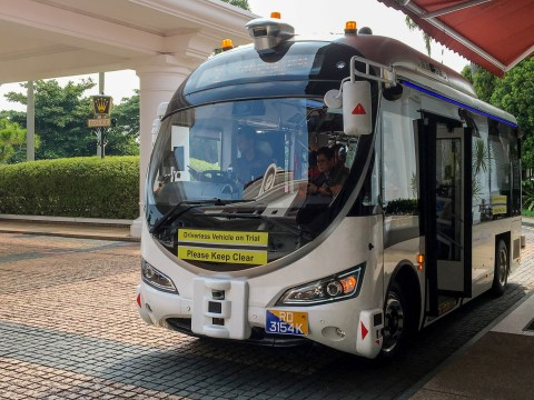 Self-driving robot bus unleashed in trial showcasing the future of public transport