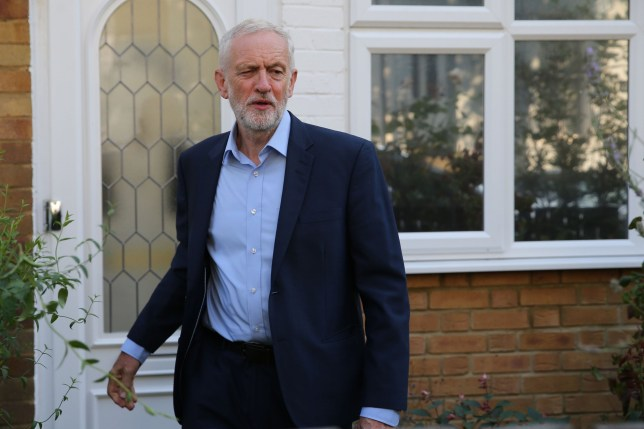 Opposition Labour party leader Jeremy Corbyn leaves his residence in north London on August 27, 2019. - Corbyn is to host a meeting today of senior MPs on stopping no-deal Brexit. (Photo by ISABEL INFANTES / AFP)ISABEL INFANTES/AFP/Getty Images