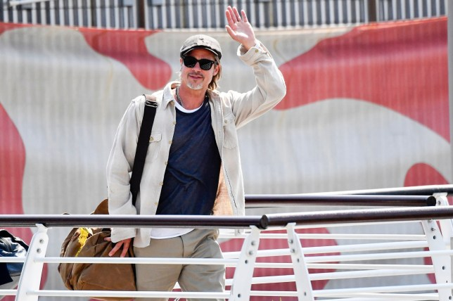 BGUK_1698151 - ** RIGHTS: WORLDWIDE EXCEPT IN FRANCE, GERMANY, ITALY, SWITZERLAND ** Venice, ITALY - Brad Pitt arrives at the airport ahead Venice Film Festival on August 27, 2019 in Venice, Italy. Pictured: Brad Pitt BACKGRID UK 27 AUGUST 2019 UK: +44 208 344 2007 / uksales@backgrid.com USA: +1 310 798 9111 / usasales@backgrid.com *UK Clients - Pictures Containing Children Please Pixelate Face Prior To Publication*