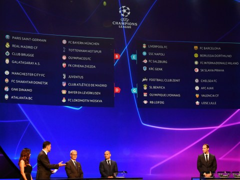 Champions League group stage draw: Liverpool take on Napoli and Chelsea face Ajax