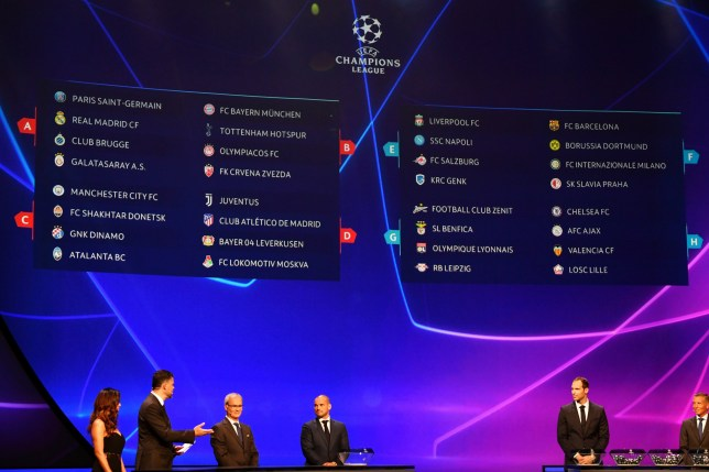 Liverpool, Chelsea, Man City and Tottenham discovered their fate at Thursday's Champions League draw