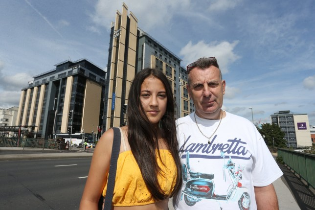 """A dad was outraged after his hotel room was 'stormed by police' when he checked in with his 13-year-old daughter. Jon Coupland, 58, checked into the Jury's Inn hotel in Station Street, Nottingham, with his daughter Jessica Coupland. Mr Coupland, who has had full custody of his daughter since she was three months old, was horrified when police knocked on his door and started questioning him on Wednesday night (August 28). He said he has been left """"disgusted"""" by the actions of the hotel and the Nottinghamshire Police."""