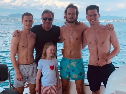 Piers Morgan is one proud dad as he shares rare family photo during lavish summer holiday