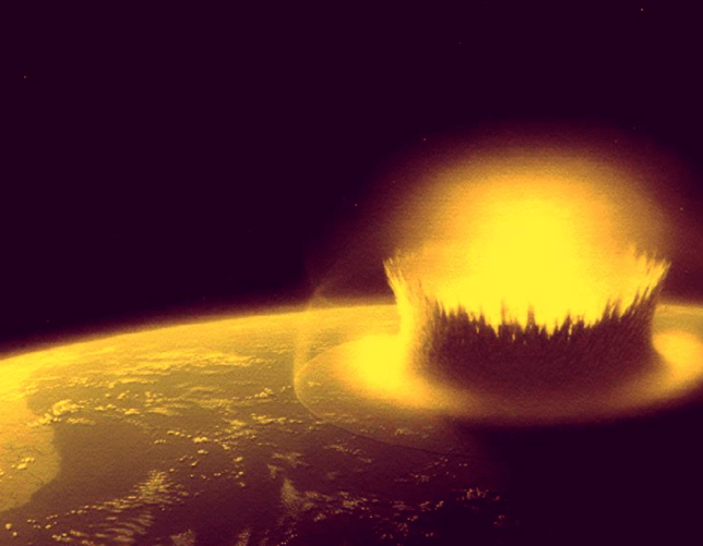 Our planet has endured countless numbers of asteroid impacts (Image: Nasa)