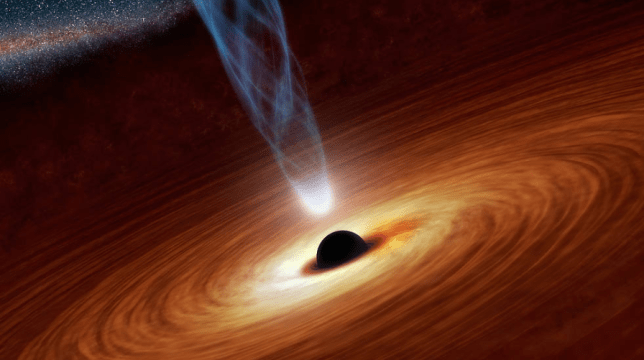 An artist's impression of a supermassive black hole (Image: Nasa)