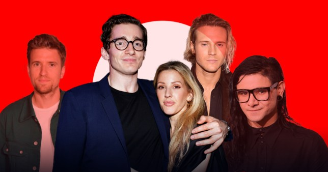 Who were Ellie Goulding's past boyfriends and who is she