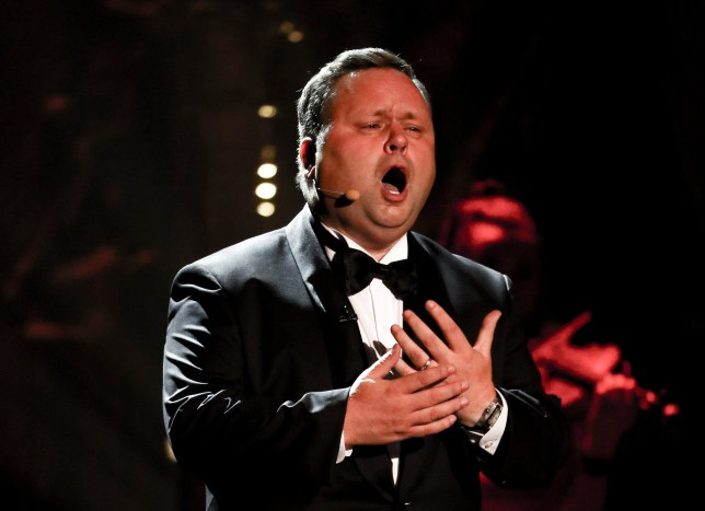 Paul Potts performs on Britain's Got Talent The Champions