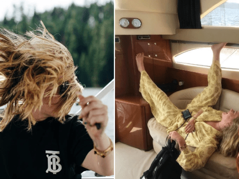 Adele's having a way better summer than you as she hangs out on yachts and admires Mother Nature