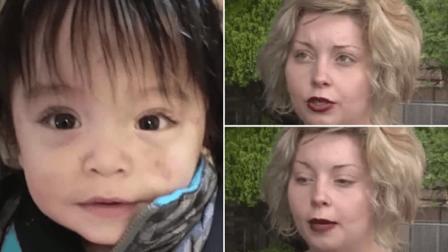 Photo of Zayden Jaynesahkluah and screengrabs of interview with his mother Kimberly Compass