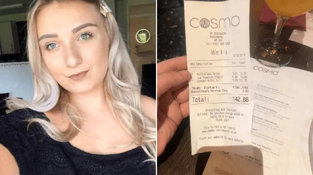 Birthday woman stunned as mystery 'footballer' pays £142 restaurant bill