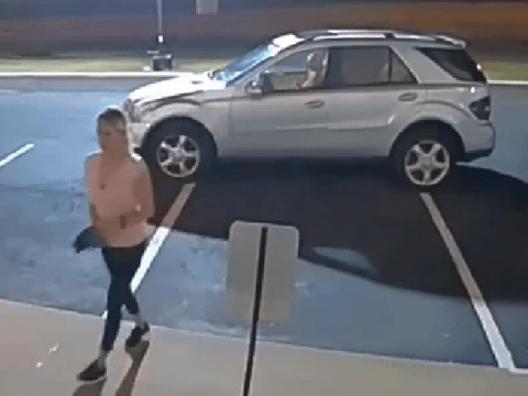 'Soccer mom' in Mercedes filmed using power saw to break into Botox clinic