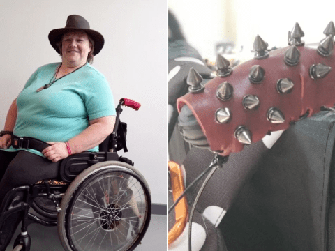 Woman adds spikes to wheelchair to stop strangers pushing her uninvited