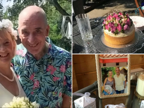 Couple get married again after husband with dementia forgot first wedding