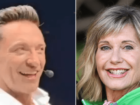Hugh Jackman films supportive message for 'amazing' Olivia Newton-John as she battles breast cancer