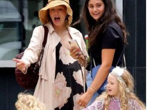 Blake Lively shows off baby bump as she takes on mummy duties ahead of due date