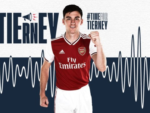 Arsenal confirm £25m signing of Kieran Tierney from Celtic