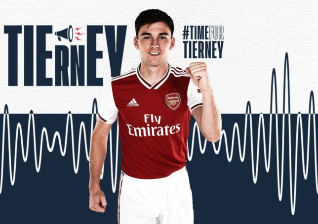 Kieran Tierney has completed a £25m move from Celtic to Arsenal