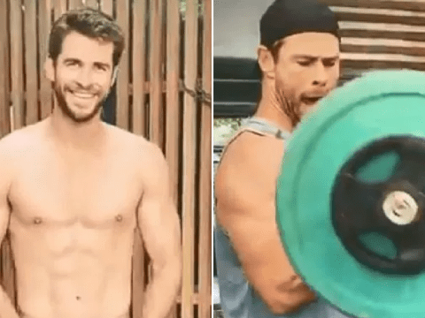 Liam and Chris Hemsworth working out together is a vision as brothers get competitive for the most ripped body