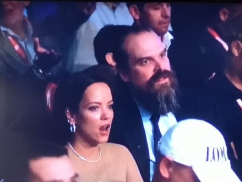 Lily Allen and David Harbour take blossoming romance to Fury vs Povetkin fight