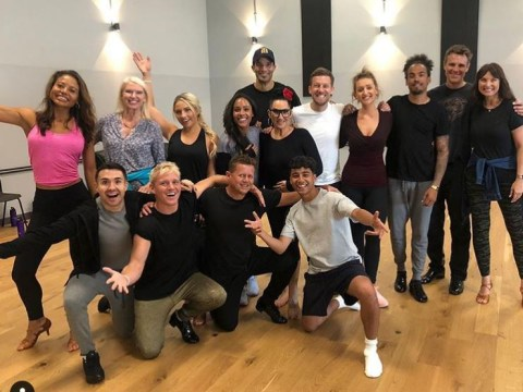 Strictly Come Dancing line-up: All the celebs pose together for the first time as rehearsals kick off