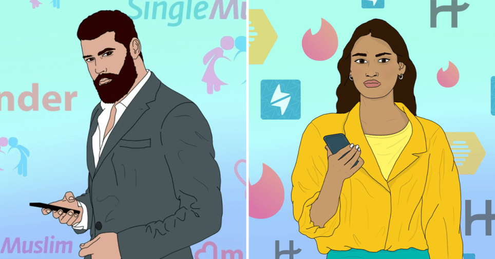 Muslims share their worst Muzmatch and Minder dating stories Read more: https://metro.co.uk/2019/08/21/muslims-share-their-worst-muzmatch-and-minder-dating-stories-10602262/?ito=cbshare Twitter: https://twitter.com/MetroUK | Facebook: https://www.facebook.com/MetroUK/