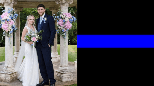Police pay tribute to murdered PC Andrew Harper with blue