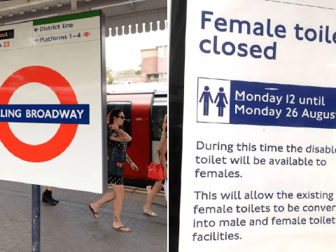 Outrage over TfL poster which suggests female toilets are becoming gender neutral