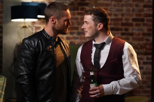 Keanu tackles Ben in EastEnders