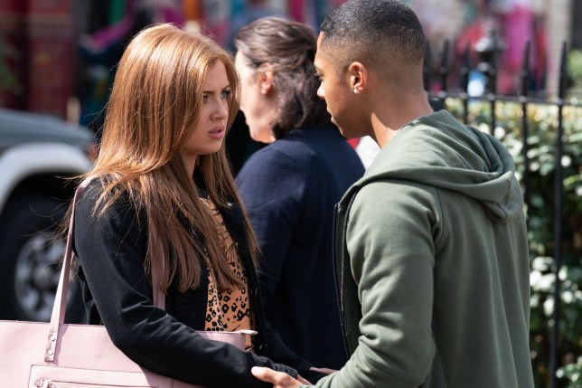 Maisie Smith as Tiffany Butcher and Zack Morris as Keegan Baker in EastEnders