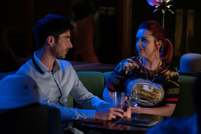 Whitney going for a drink with Leo on eastenders