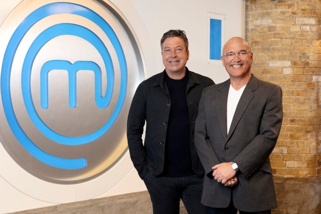 John Torode and Gregg Wallace who are judging Celebrity MasterChef
