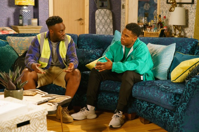 James and Michael in Coronation Street