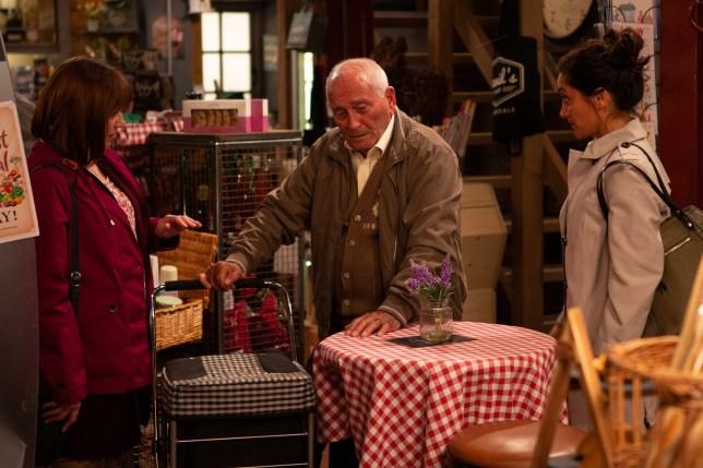 Tommy Cannon as Derek in Emmerdale