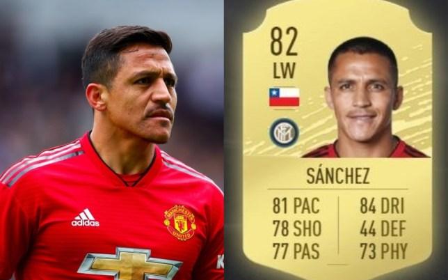 Alexis Sanchez has seen his FIFA 20 rating dramatically drop