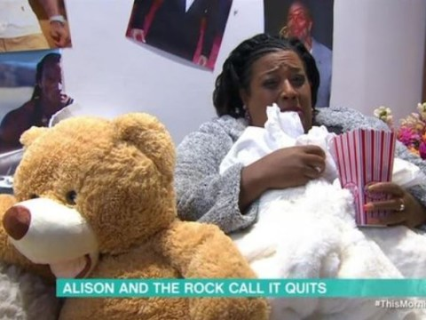 Alison Hammond left 'inconsolable' as she barricades herself in dressing room after getting dumped by The Rock
