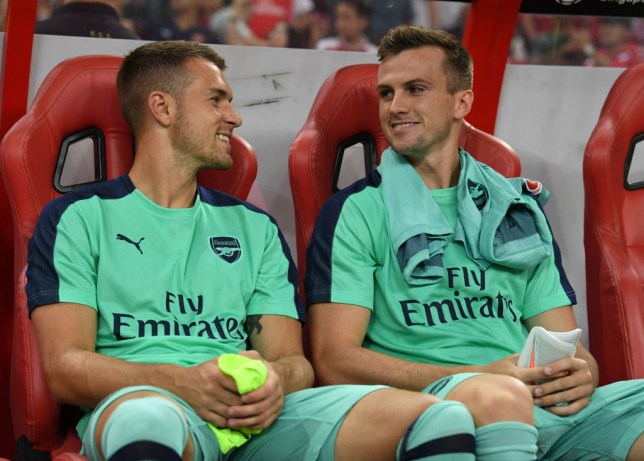 Aaron Ramsey sends class message to Rob Holding after 'perfect' Arsenal return