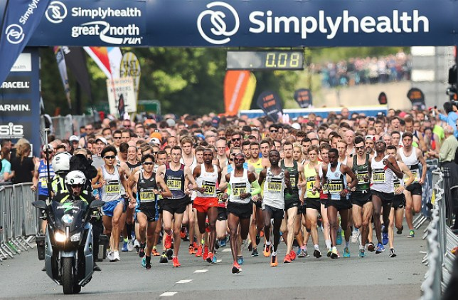 The beginning of The Great North Run in 2018