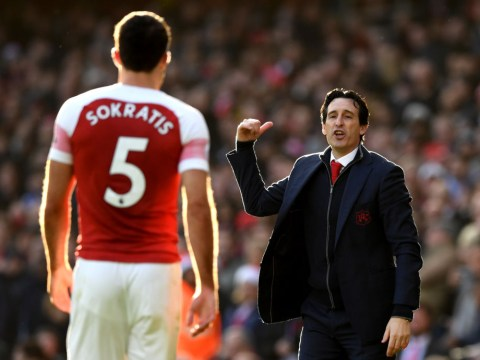 Arsenal manager Unai Emery says he is to blame for Watford meltdown, not Sokratis Papastathopoulos