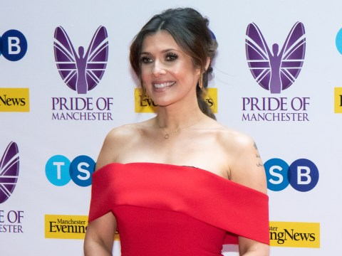 Coronation Street's Kym Marsh recovers in bed following hospital stint